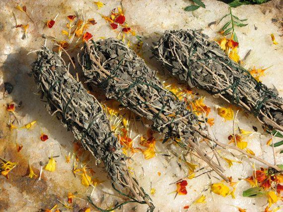Smudge Stick Bundle Texas Sage Smudge Stick By Earthmother195 10 00 Texas Sage Smudge Sticks Smudging