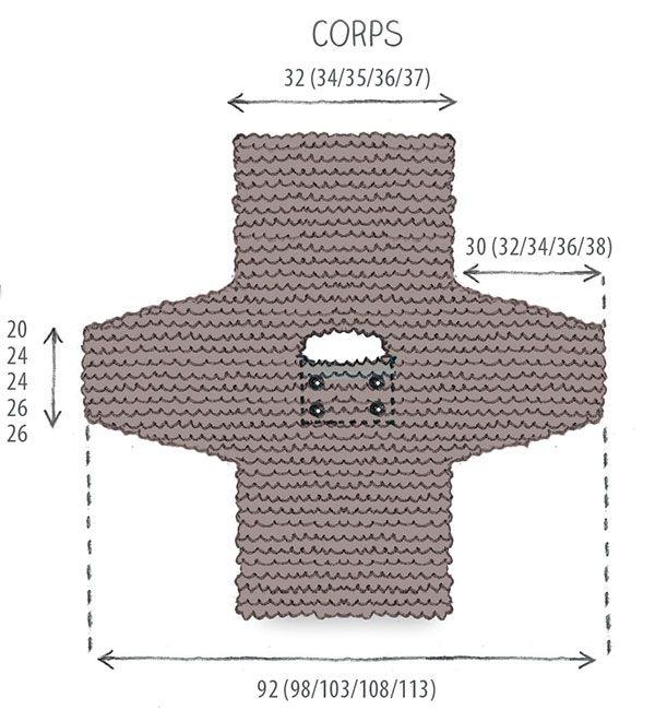 Tricot enfant: un pull sans couture