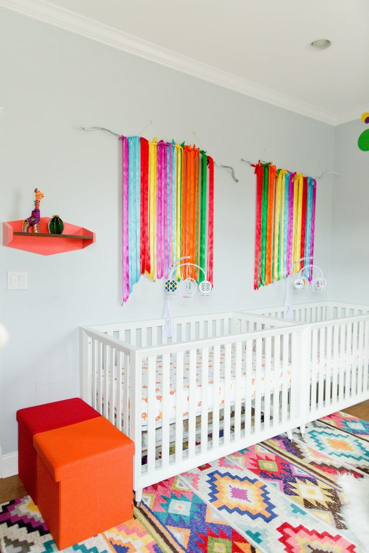 This Colorful Twin Nursery Was Inspired