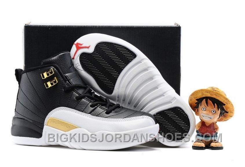 """super popular 62dc1 83480 2017 Kids Air Jordan 12 """"Wings"""" Basketball Shoes Discount ..."""