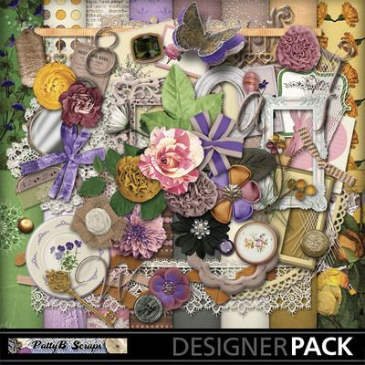 Digital Scrapbooking Kits | Aunt Audrey-(PattyB) | Everyday, Family, Friends, Heritage, Vintage | MyMemories