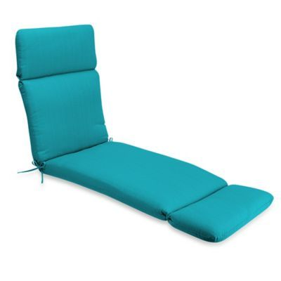 Medford Solid Outdoor Chaise Lounge Cushion In Ocean Patio Cushions Outdoor Cushions Chaise Cushions