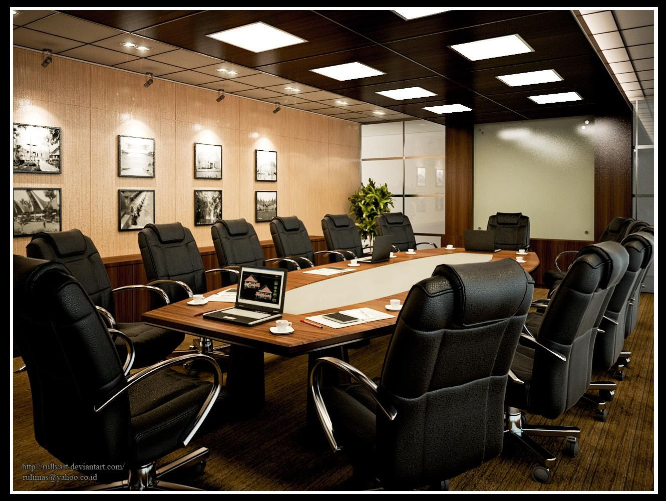 Interior design for meeting room by rullyart ideas for for Meeting room interior design ideas