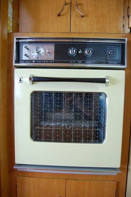 Vintage General Electric Wall Ovens ~ Vintage ge hotpoint oven yellow