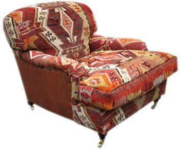 Lansdown Chair / Kilim Covered. Dream Chair.