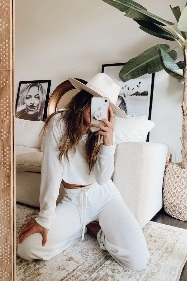 Reece White Lounge Pants