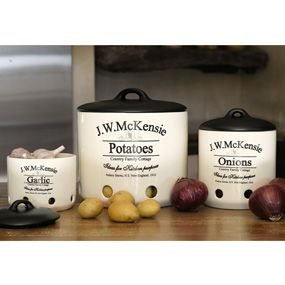 Garlic Storage Containers | CHEFS Catalog   Vintage McKensie Vegetable Storage  Container, Garlic .