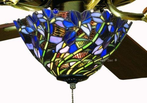 stained glass ceiling fans | Iris Tiffany Stained Glass Ceiling ...
