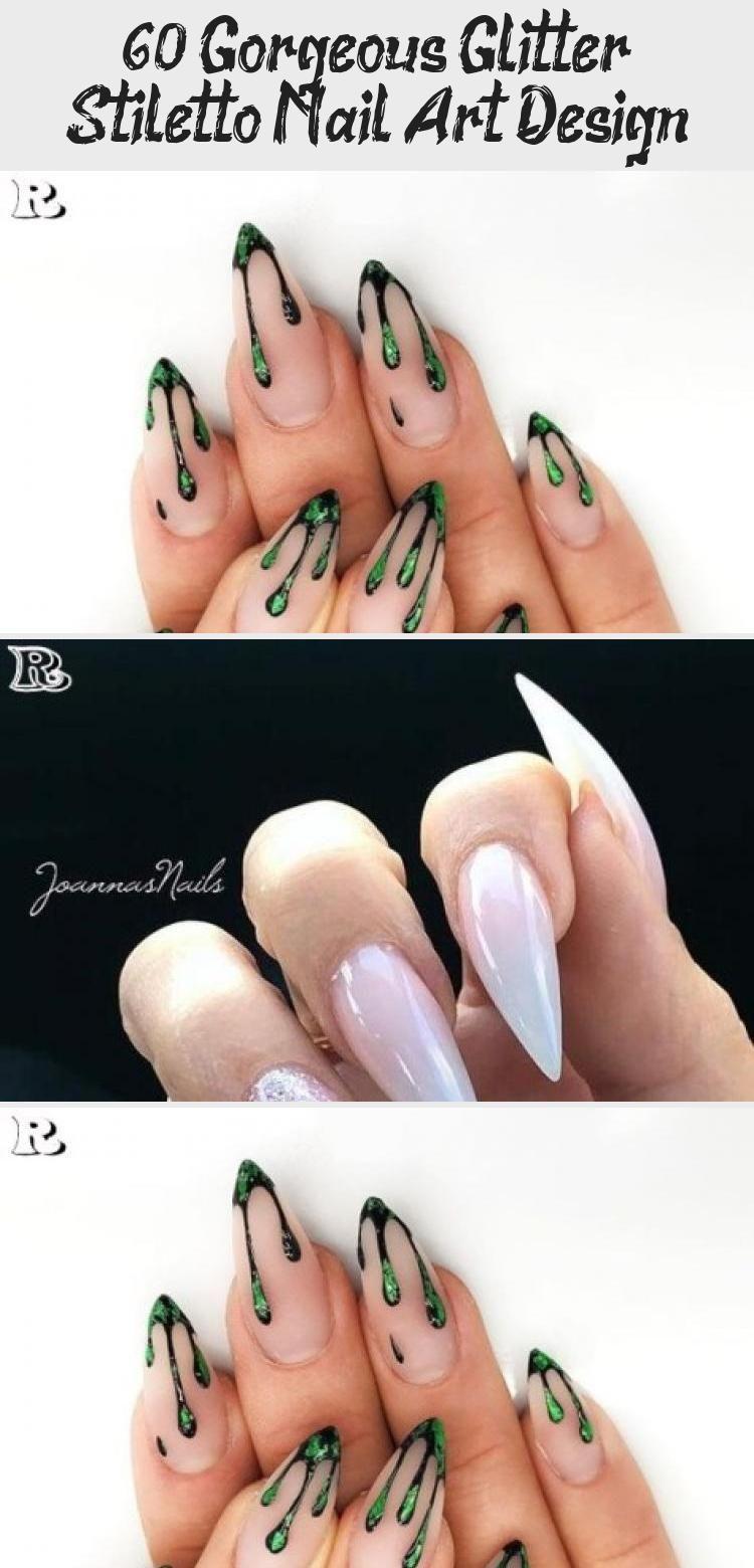 Photo of 60 Gorgeous Glitter Stiletto Nail Art Design