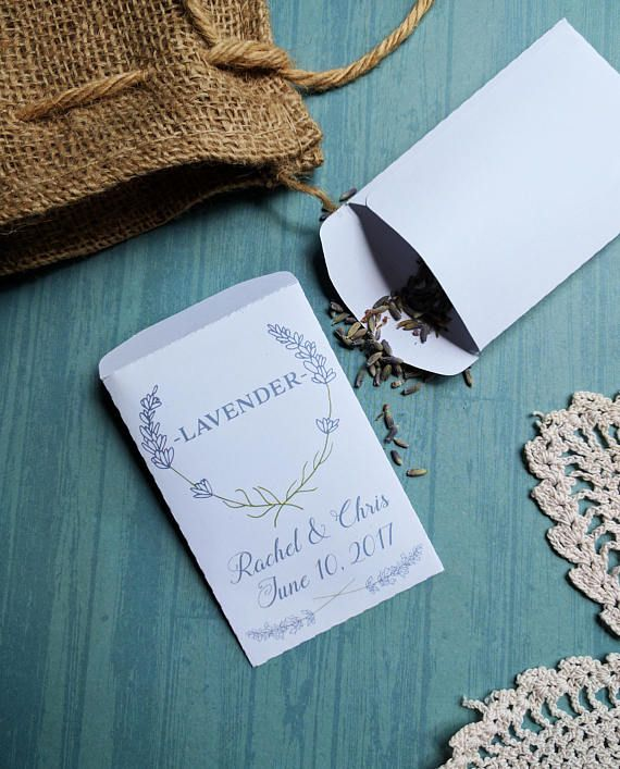 PRINTABLE, Seed Packet, Template, LAVENDER, Customized, Weddings ...