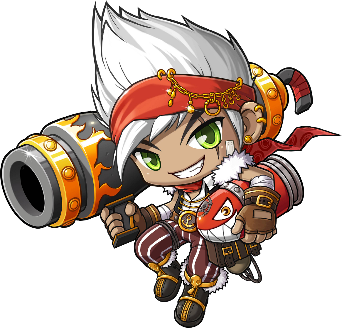 MapleStory Cannoneer Concept Anime chibi, Character