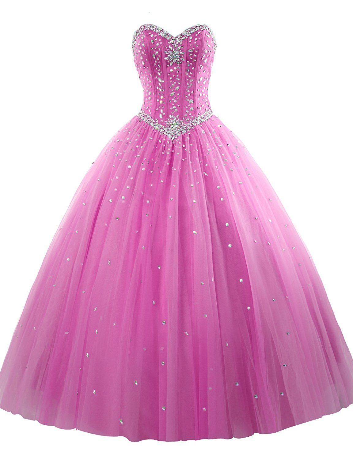 Amazon.com: HTYS Women\'s Sweetheart Ball Gown Organza Quinceanera ...