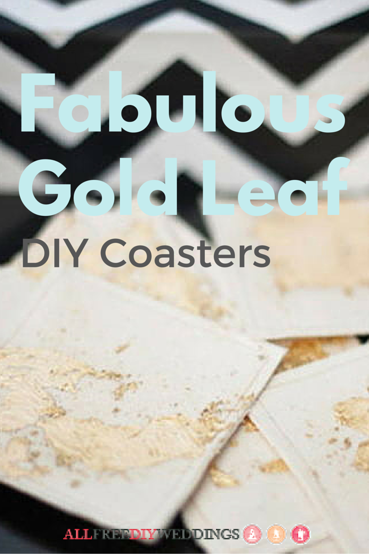 Gold Leaf DIY Coasters | Favours, Table settings and Wedding
