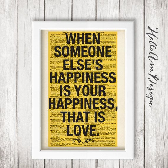 ▻ ABOUT THIS WALL DECOR DESIGN: When someone elses happiness is ...