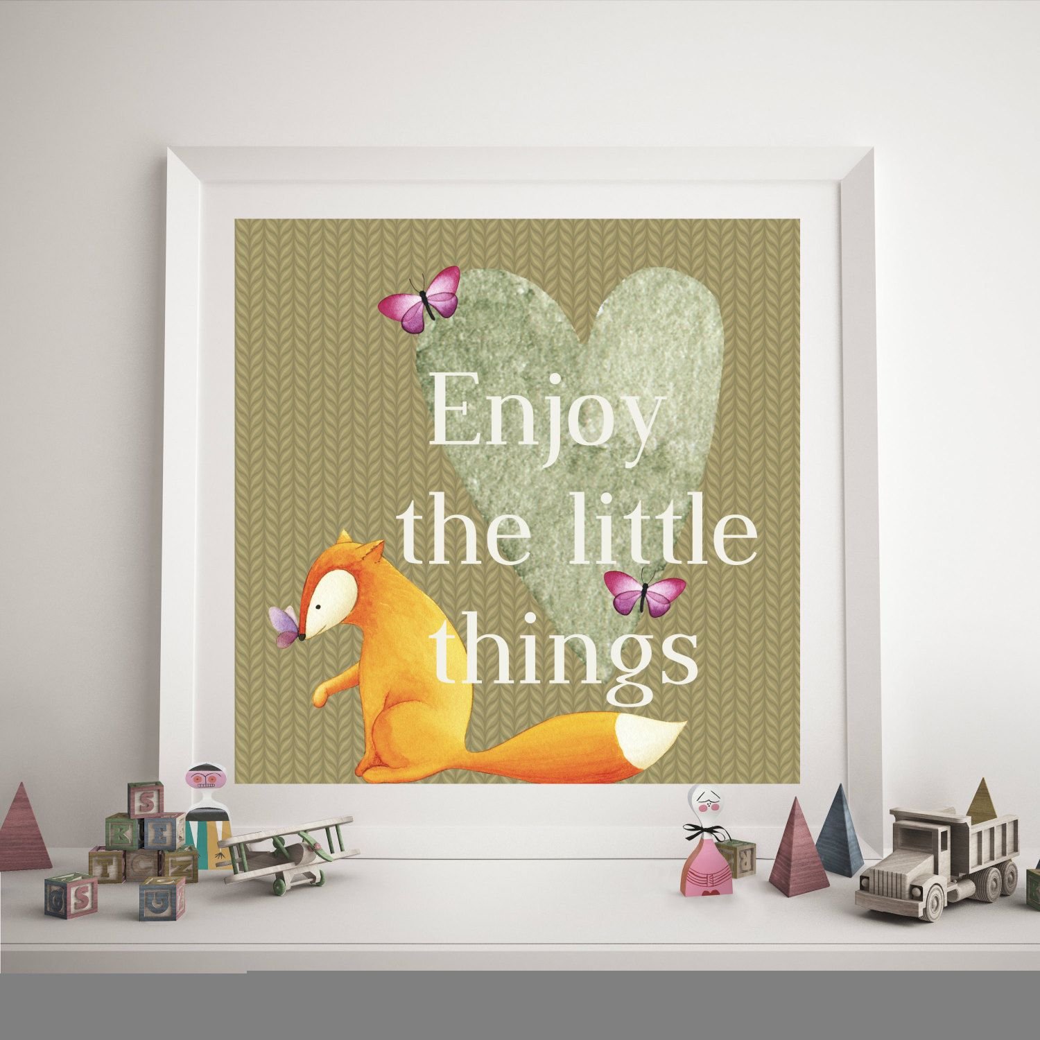 Enjoy the little things, kids and baby decor,wall decor by RapposWorld on Etsy