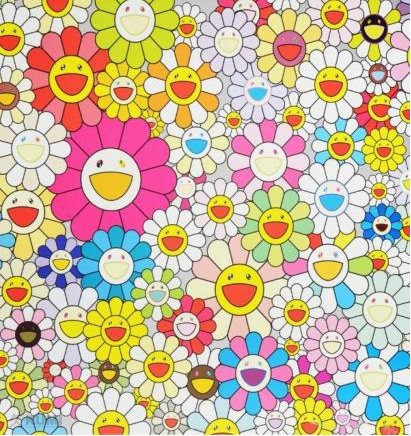 By Takashi Murakami (b.1962), Flowers from the village of Ponkontan.