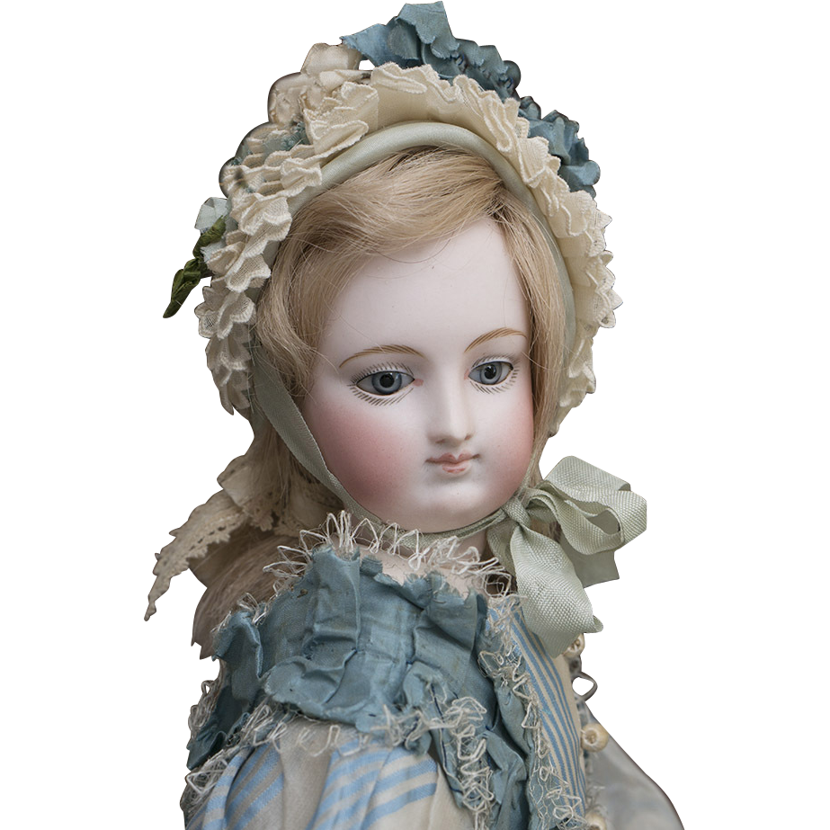 17 1/2 in (44 cm) Wonderful Antique French Fashion Bru Doll with from respectfulbear on Ruby Lane