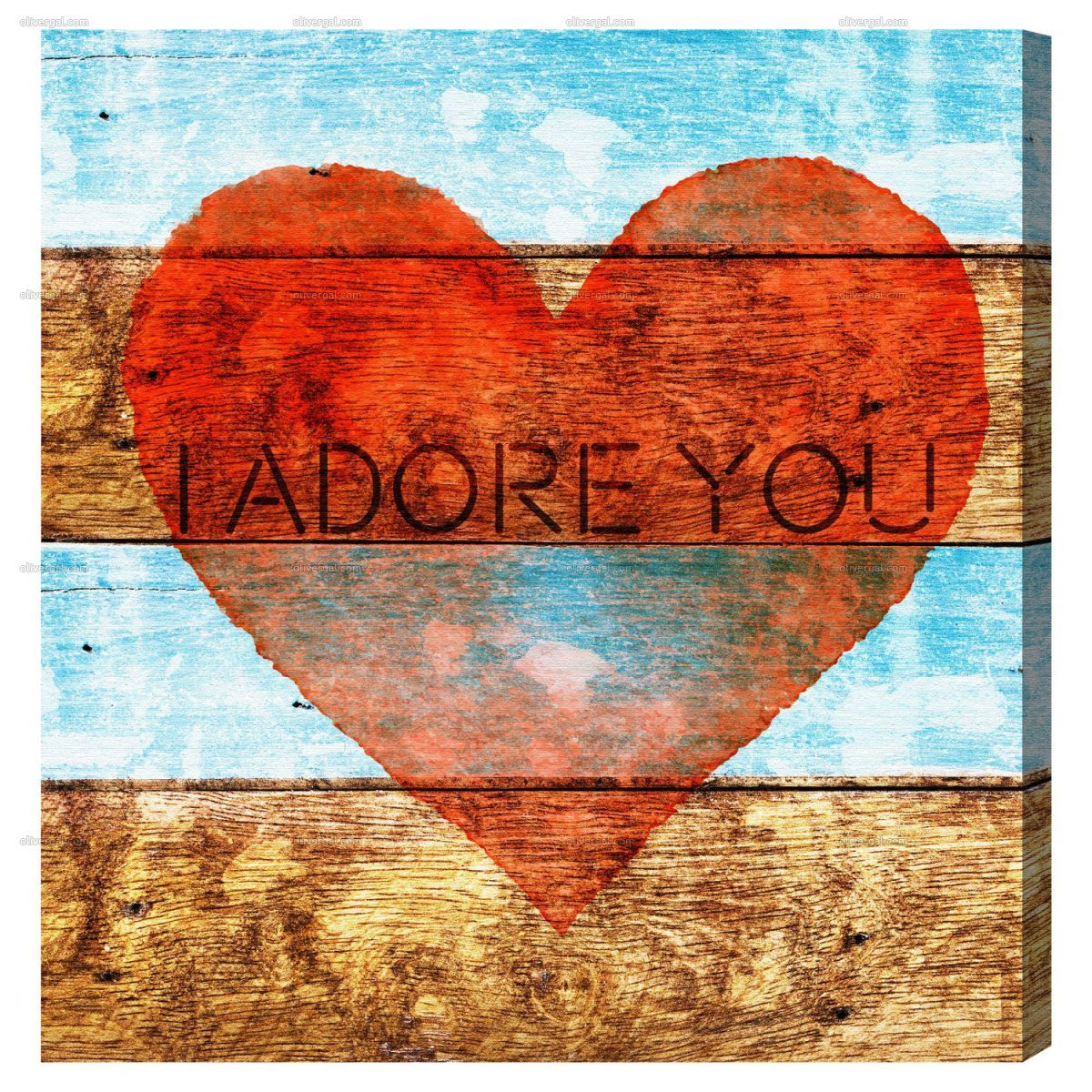 I adore you by oliver gal wall art canvas prints art