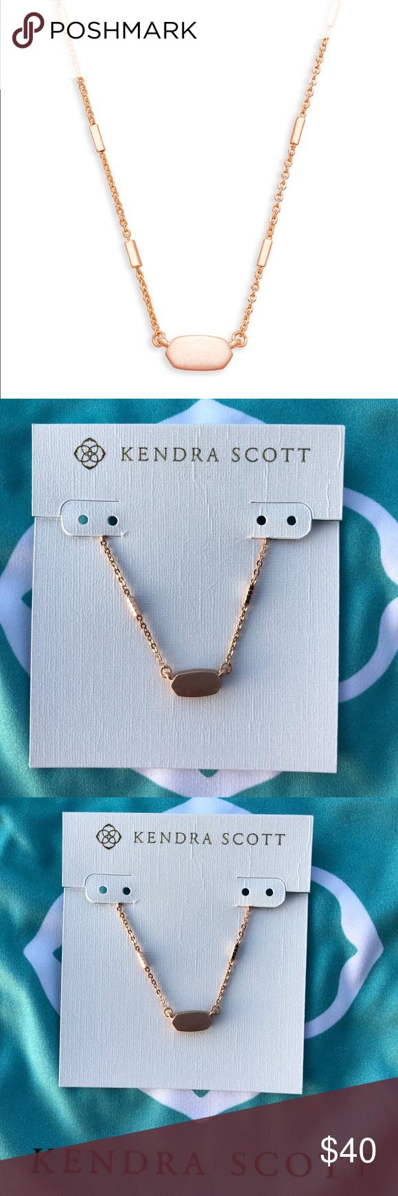 Kendra scott fern rose gold necklace nwt in my posh picks