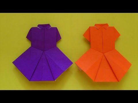Cara Membuat Origami Baju Seragam Sekolah Origami Baju Youtube