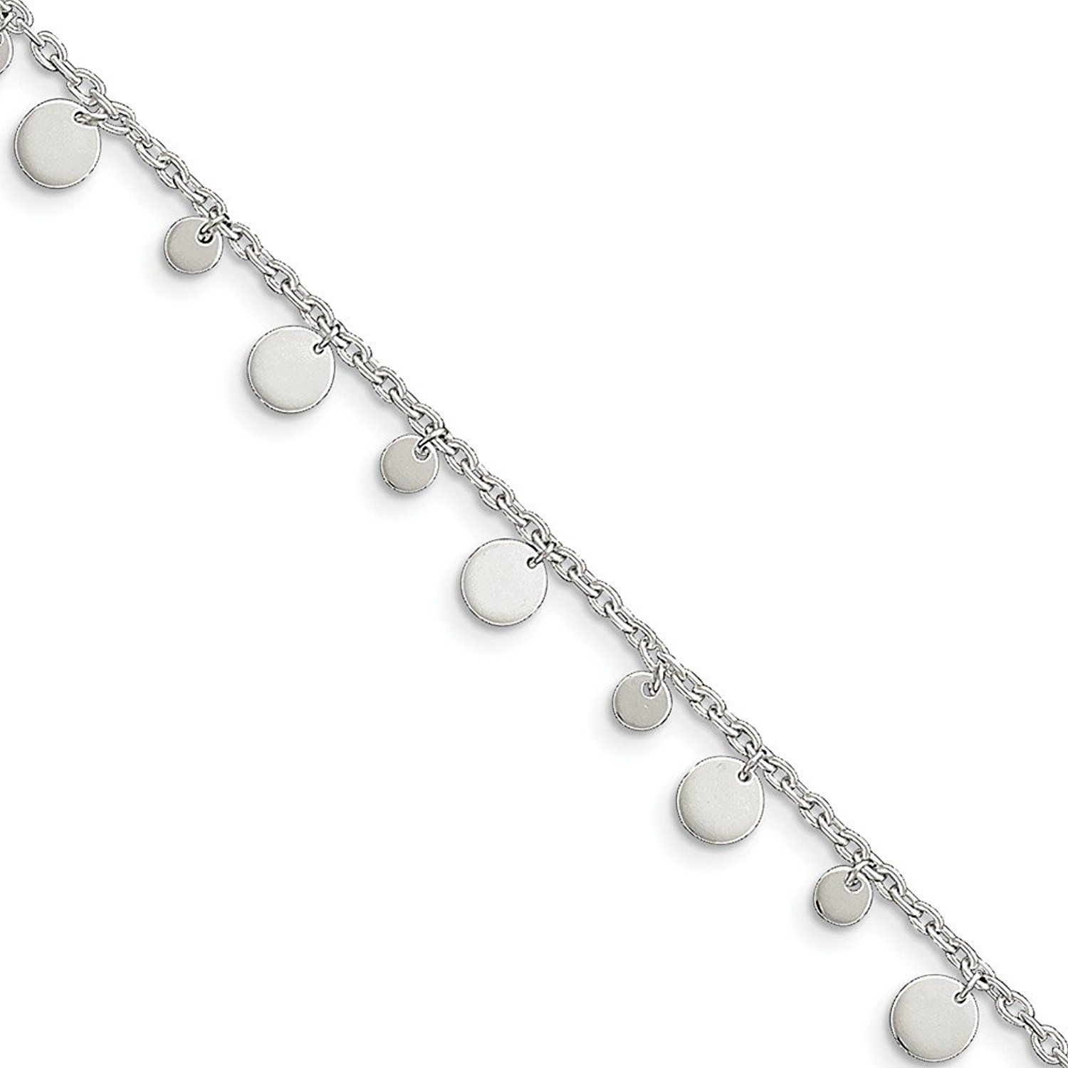 Sterling Silver Singapore Chain Anklet 10 length