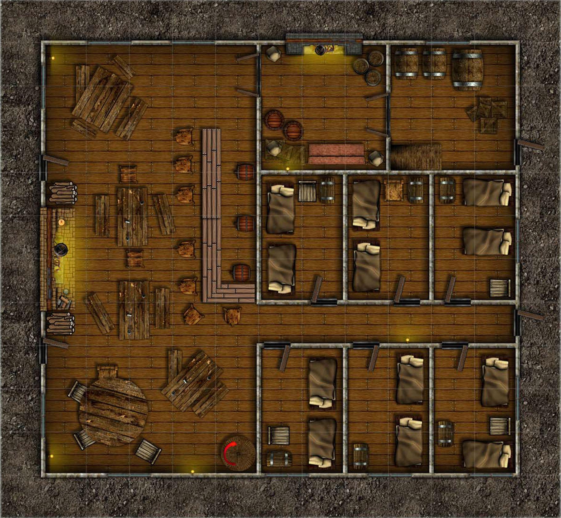 Wraftons inn fantasy map medieval fantasy fantasy battle building map tabletop rpg