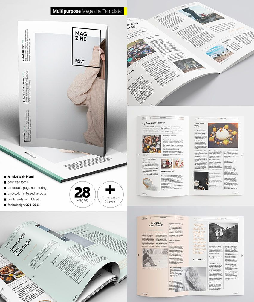 flexible magazine template creative layouts graphic