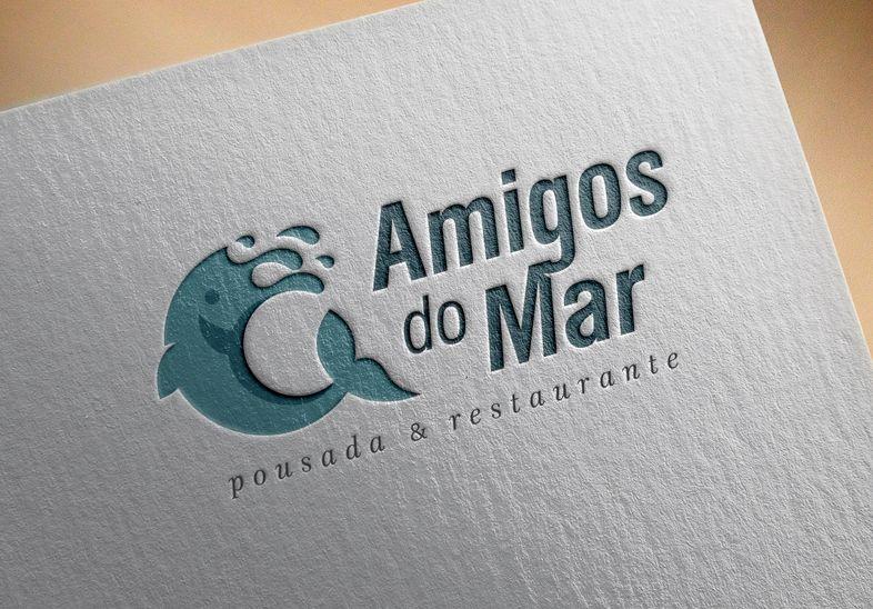Criação do logotipo e do novo site para Amigos do Mar, um complexo de RESTAURANTE, CAFETERIA, POUSADA  e POSTO DE COMBUSTÍVEIS de Rainha do Mar/RS, Litoral Norte. http://www.artwebdigital.com/criacao-logotipo-pousada-e-restaurante-litoral-norte