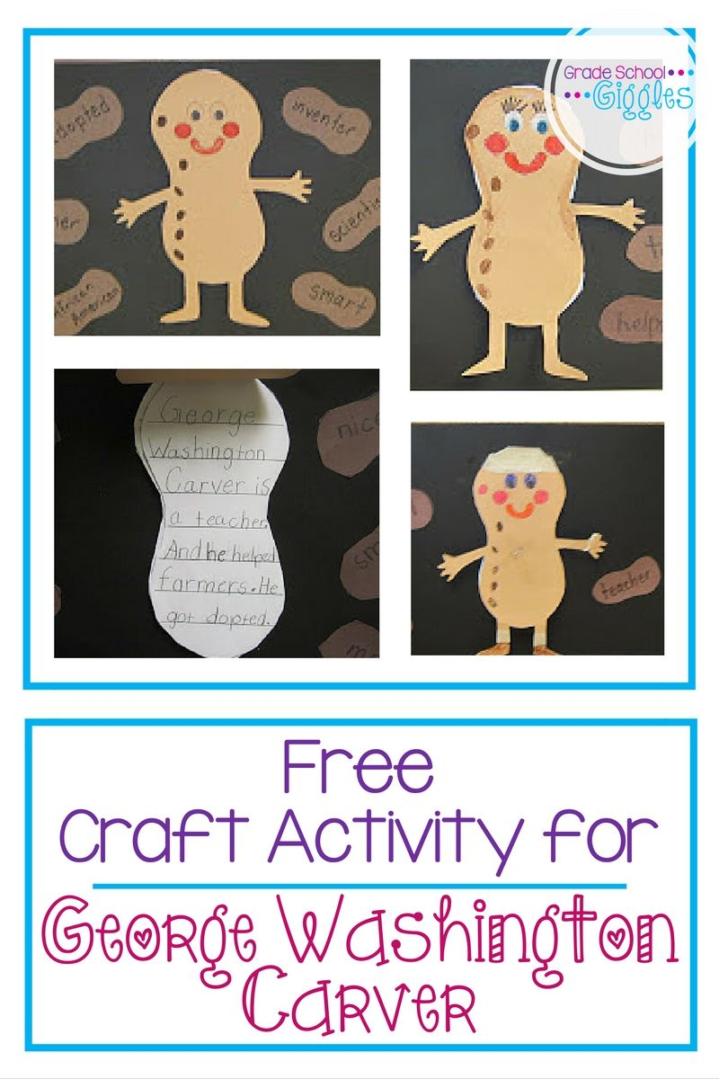 A Craftivity Project For George Washington Carver Black History Activities Black History Month Activities Black History Month Preschool [ 1200 x 800 Pixel ]