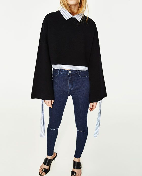 7265da04 Image 3 of HIGH ELASTICITY HIGH-RISE VINTAGE JEGGINGS from Zara | A ...