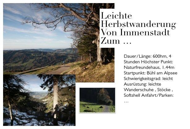 Leichte Herbstwanderung Von Immenstadt Zum Naturfreundehaus Wanderungen