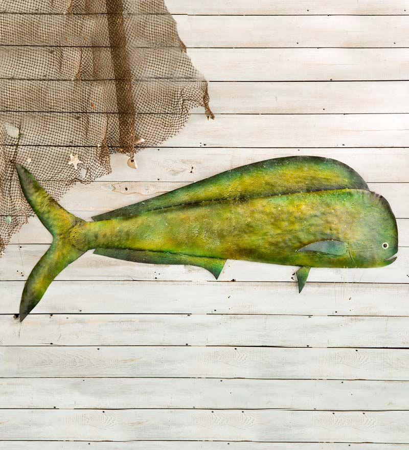 Metal Mahi Mahi Wall Art Wall Sculptures Wall Sculpture Art Wall Sculptures Metal Fish Wall Art