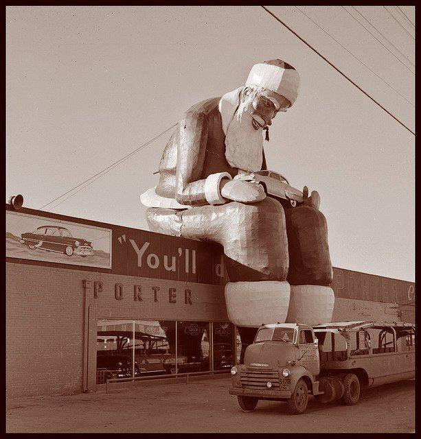 1953 Porter Chevrolet Dealership Dallas Texas Creepy Christmas