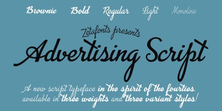 Advertising Script font download