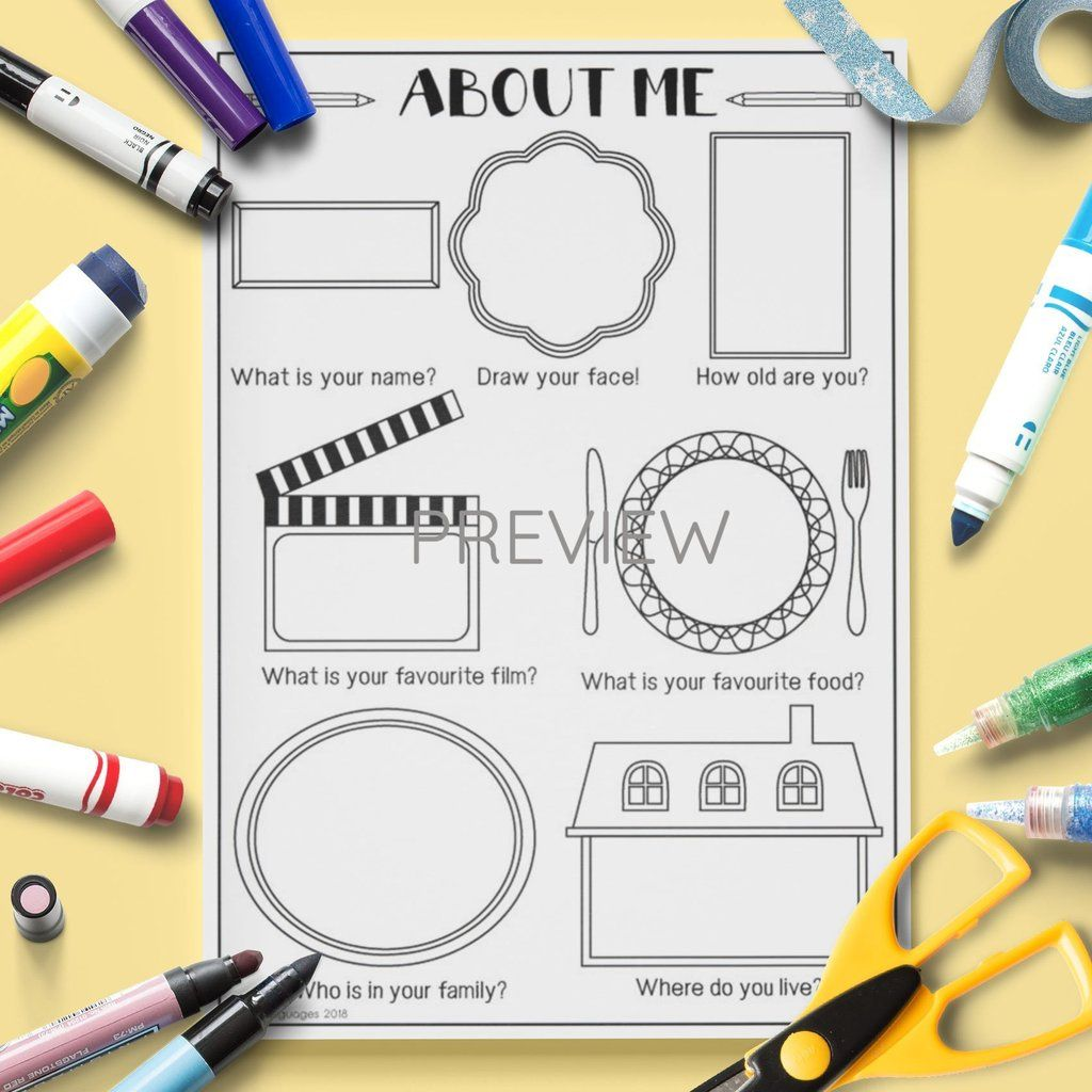 All About Me Drawing Activity 1