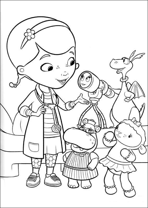 Doc McStuffins Färgläggningsbilder för barn 2 | Relaxation | Pinterest