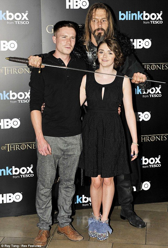 It's back: Gendry played by Joe Dempsie and Arya Stark played by Maisie Williams at the Game Of Thrones Season 3 Coming To Blinkbox Party