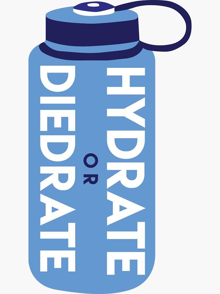 Hydrate Or Diedrate Sticker In 2020 Hydration Bottle Water Bottle