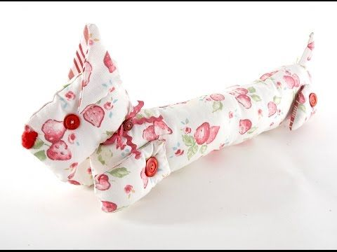 A doggy draught excluder by Debbie Shore - YouTube | Debbie Shore ...
