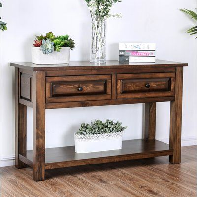 Alcott Hill Jansen 48 Solid Wood Console Table In 2020 Rustic Sofa Tables Furniture Rustic Sofa