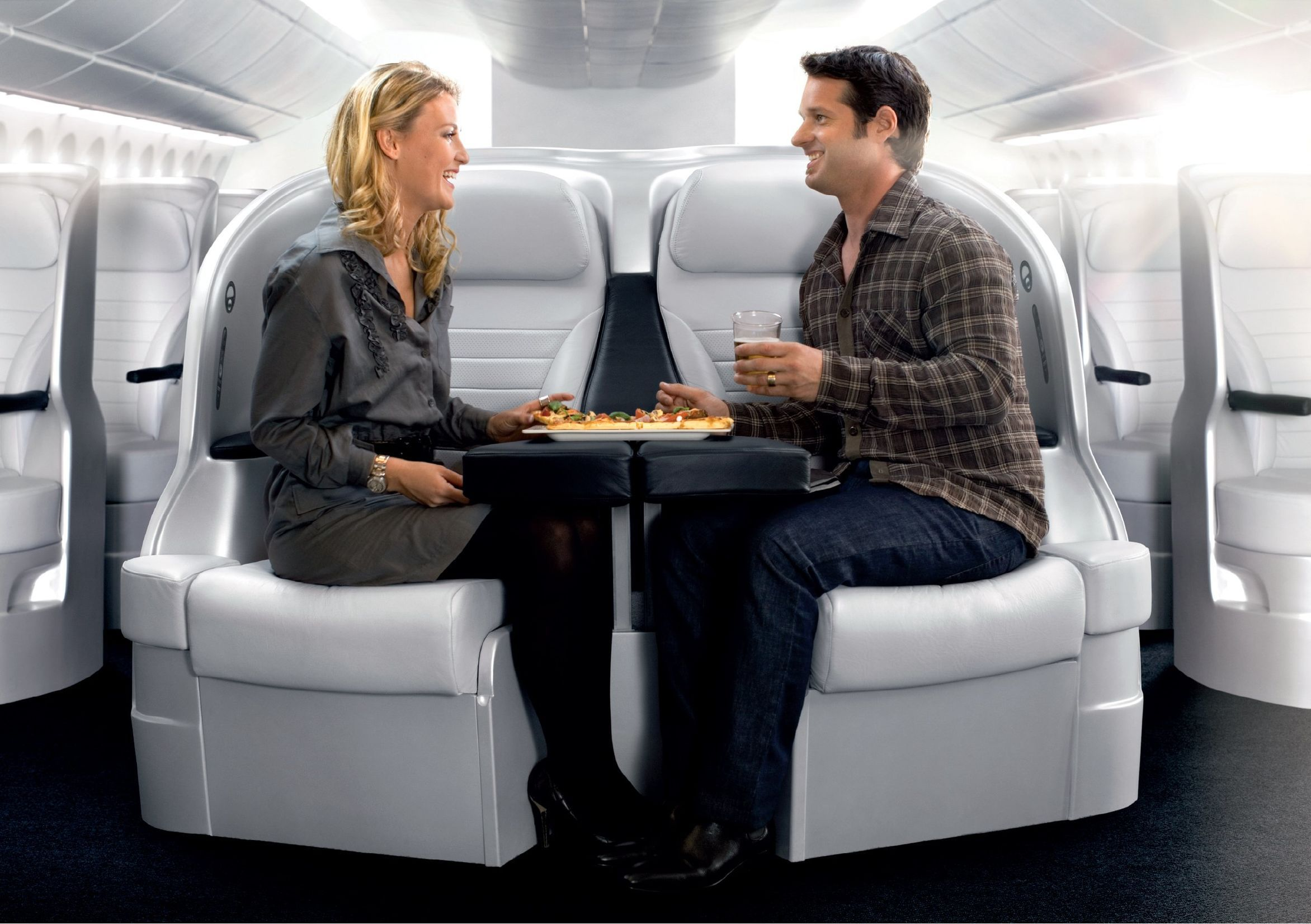 Air New Zealand Boeing 777 300 Premium Economy Space Seat With