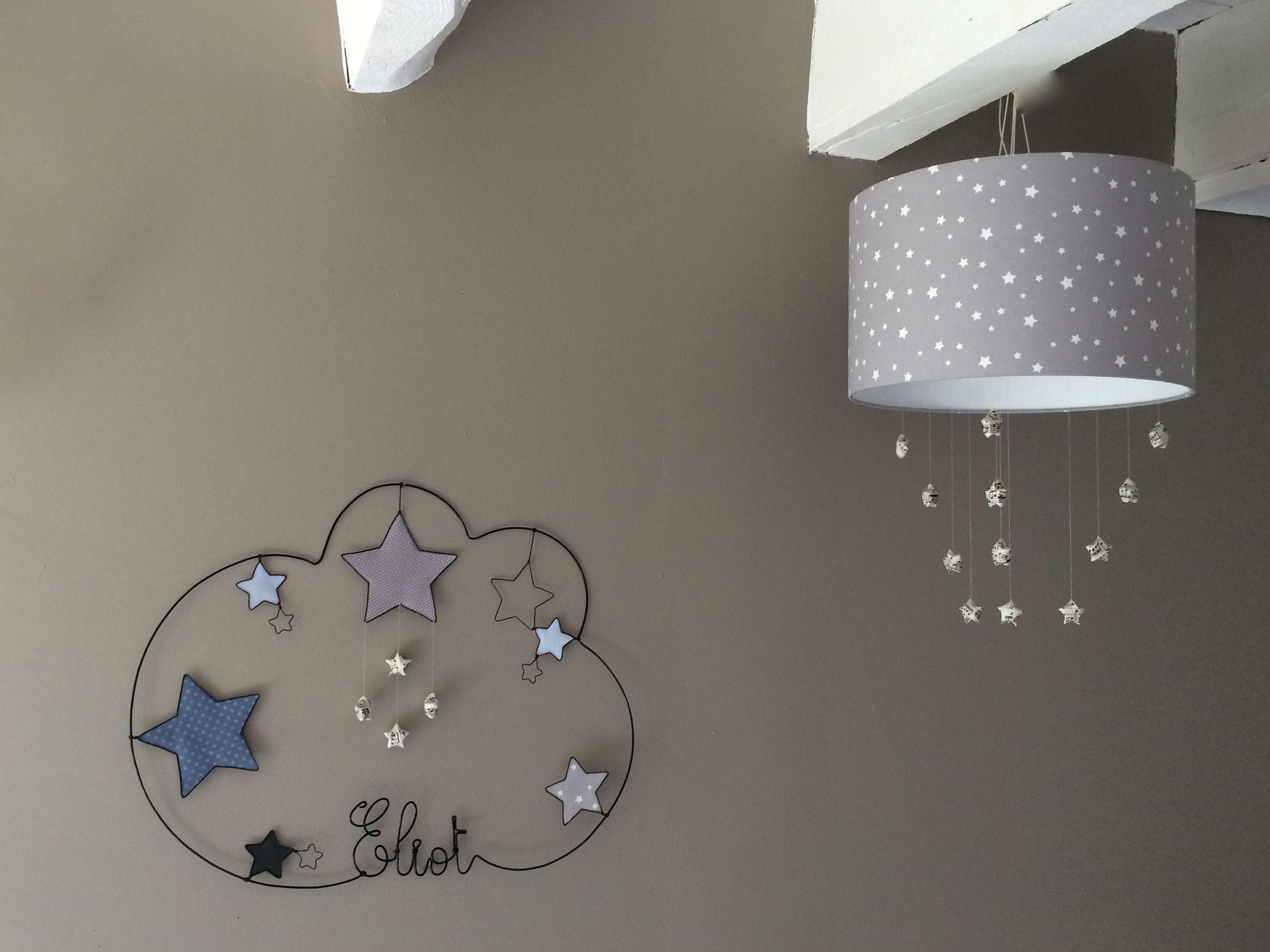 Abat jour suspension pour decoration de chambre d enfant etoile
