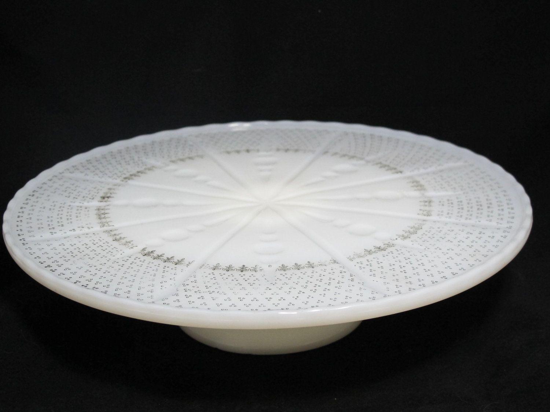Vintage Milk Glass Cake Stand Gold Fleur De Lis Cake Plate for Wedding Decor. $18.00 & Vintage Milk Glass Cake Stand Gold Fleur De Lis Cake Plate for ...