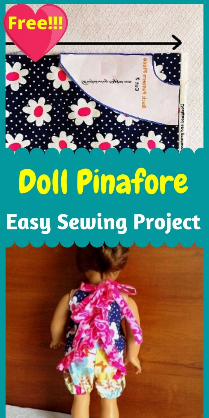 AG Doll Pinafore Sewing Pattern - Sew Crafty Me