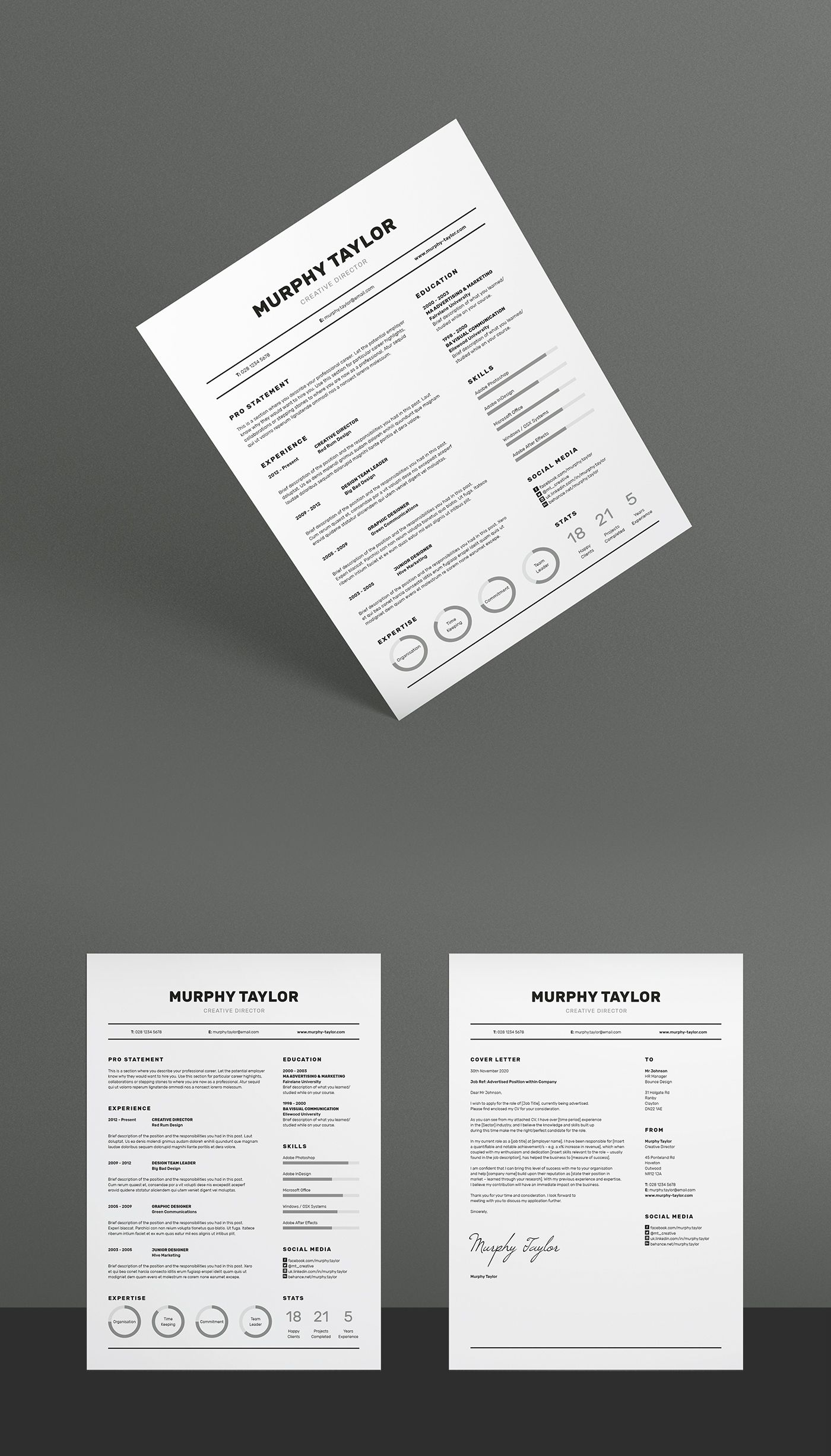 Professional Resume Template for MS Word,