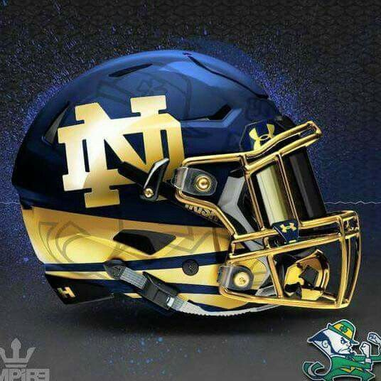 a2f3a77e589 Concept | Fighting Irish of Notre Dame | Football helmets, Football ...
