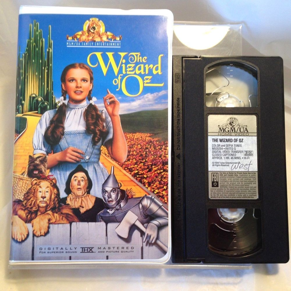 Lionetto Mobili The Wizard Of Oz Vhs Tape Mgm Ua Turner Home Video Movie 1991 Tin