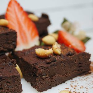 brownie med svarta bönor