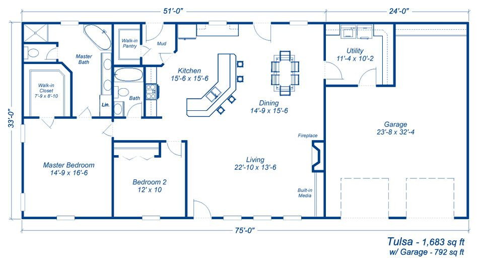 Great floorplan for over a basement