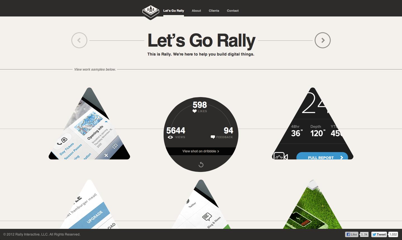 Rally Interactive [ html5, canvas, interactive, portfolio